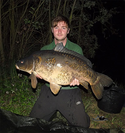 26lb carp from Abbey Lakes in France