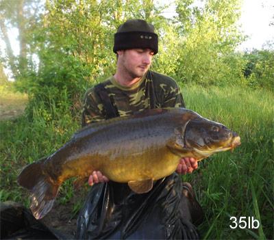 35lb Carp from Abbey Lakes Heron Lake